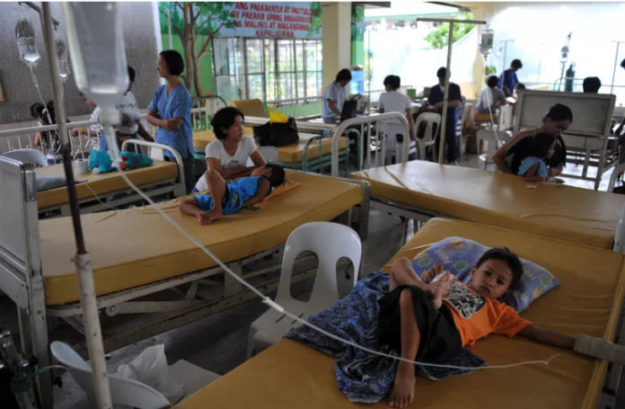 Children in the Philippines receive treatment for diarrhea