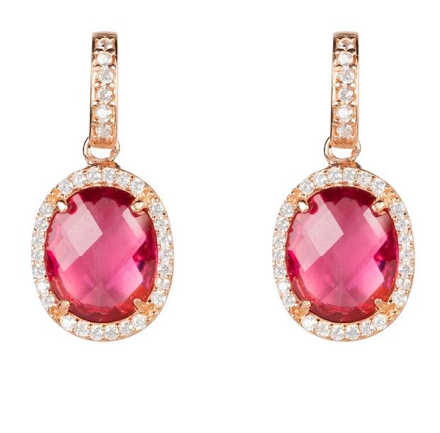Pink Tourmaline Earrings